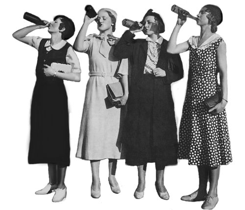 flappers drinking beer